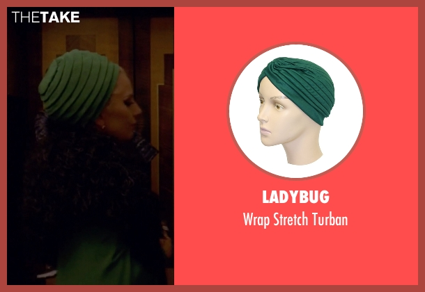 Ladybug green turban from American Horror Story seen with The Countess (Lady Gaga)