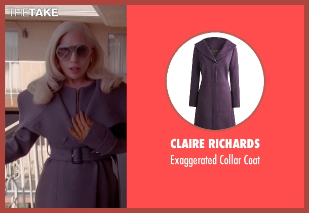 Claire Richards purple coat from American Horror Story seen with The Countess (Lady Gaga)