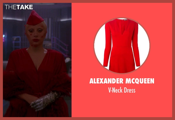 Alexander Mcqueen red dress from American Horror Story seen with The Countess (Lady Gaga)