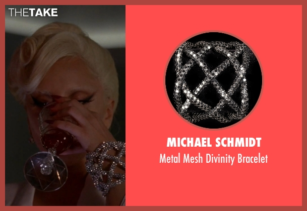 Michael Schmidt silver bracelet from American Horror Story seen with The Countess (Lady Gaga)