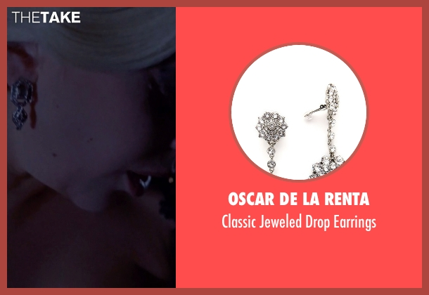 Oscar De La Renta silver earrings from American Horror Story seen with The Countess (Lady Gaga)