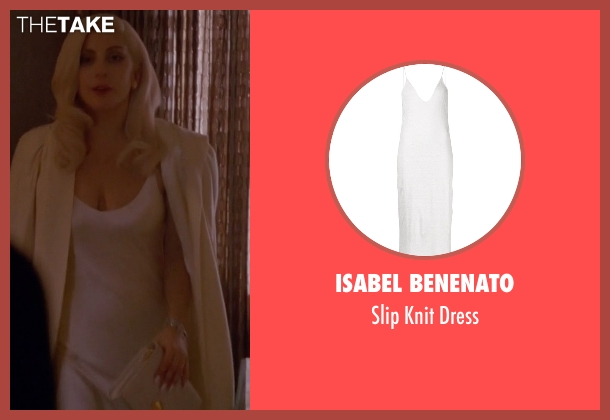 Isabel Benenato white dress from American Horror Story seen with The Countess (Lady Gaga)