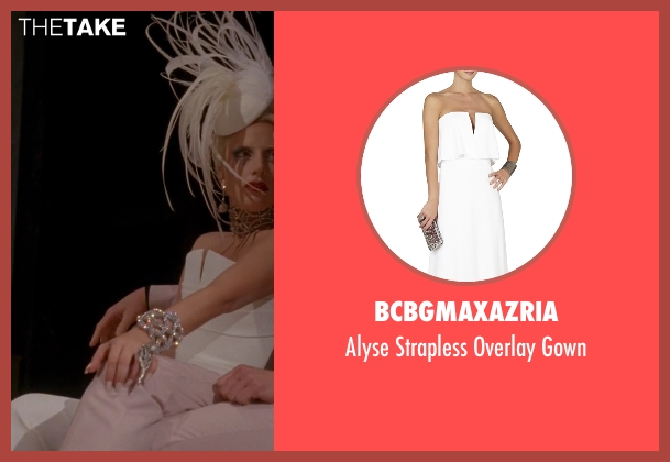 BCBGmaxazria white gown from American Horror Story seen with The Countess (Lady Gaga)