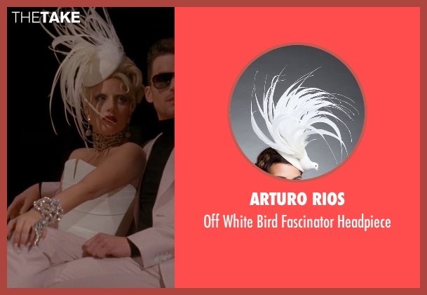 Arturo Rios white headpiece from American Horror Story seen with The Countess (Lady Gaga)