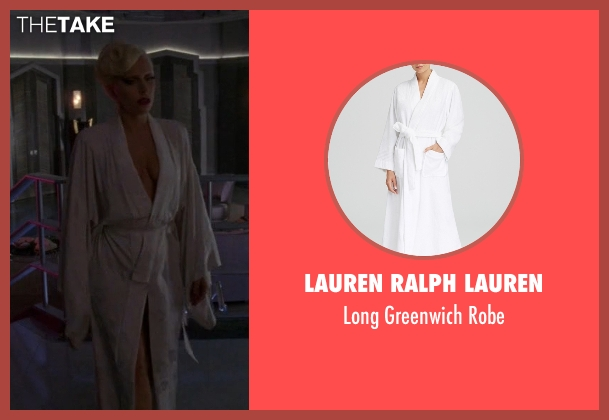 Lauren Ralph Lauren white robe from American Horror Story seen with The Countess (Lady Gaga)