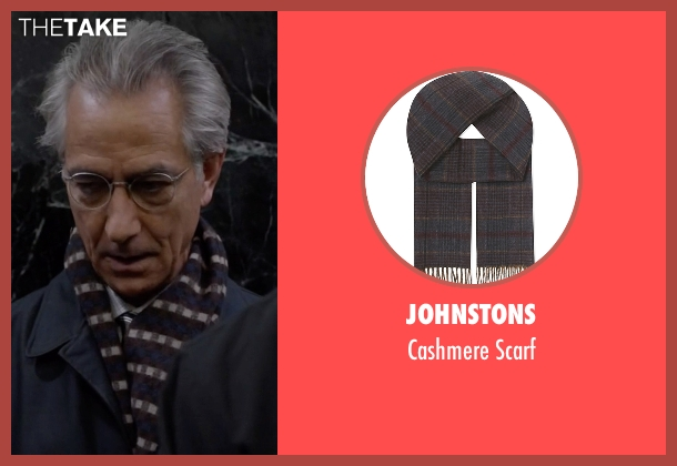 Johnstons blue scarf from The Blacklist seen with The Director (David Strathairn)