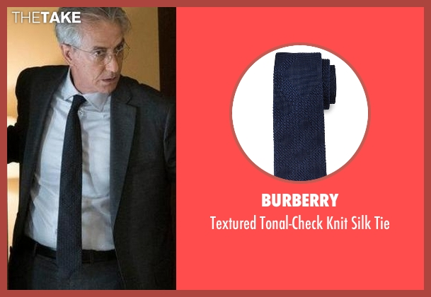 Burberry	 blue tie from The Blacklist seen with The Director (David Strathairn)