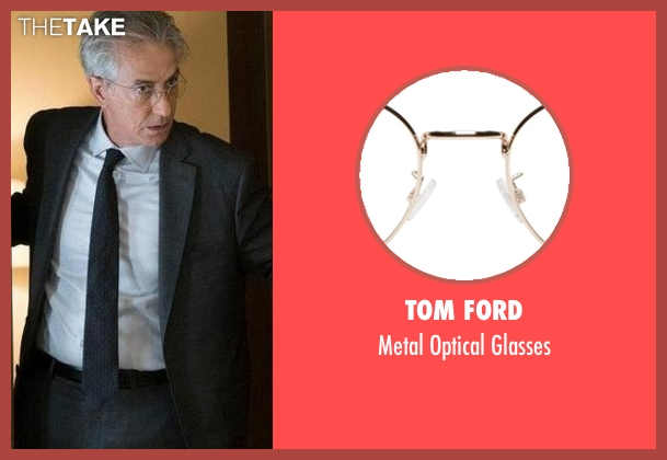 Tom Ford glasses from The Blacklist seen with The Director (David Strathairn)