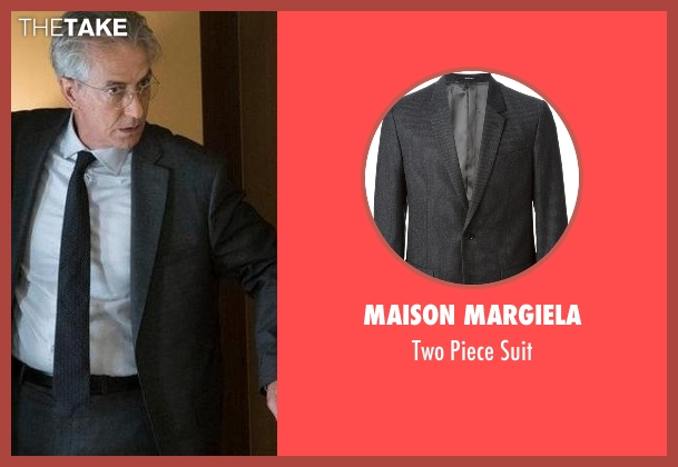 Maison Margiela gray suit from The Blacklist seen with The Director (David Strathairn)