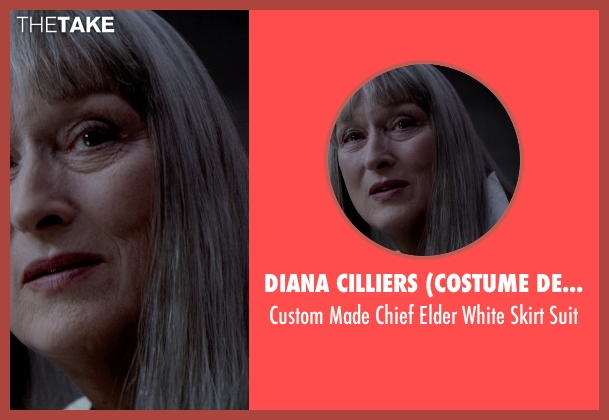 Diana Cilliers (Costume Designer) white suit from The Giver