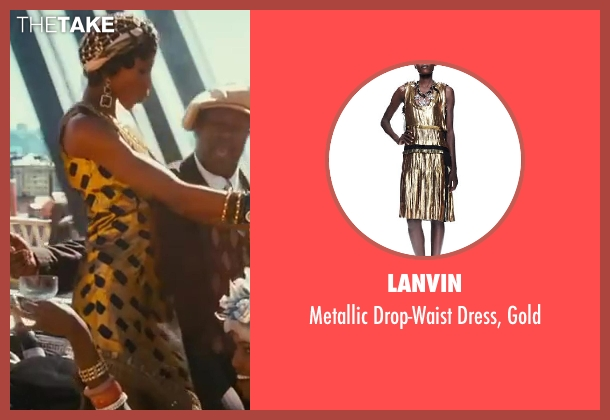 Lanvin gold gold from The Great Gatsby