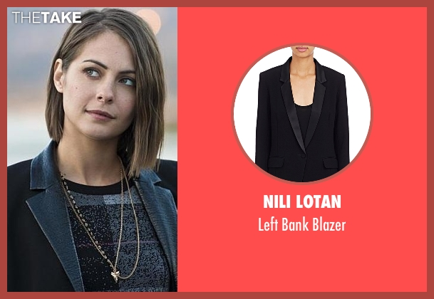 Nili Lotan black blazer from Arrow seen with Thea Queen / Speedy (Willa Holland)