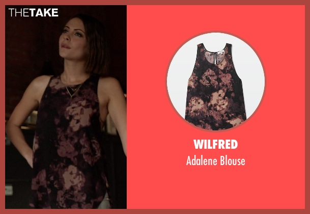 Wilfred black blouse from Arrow seen with Thea Queen / Speedy (Willa Holland)