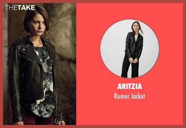 Aritzia black jacket from Arrow seen with Thea Queen / Speedy (Willa Holland)