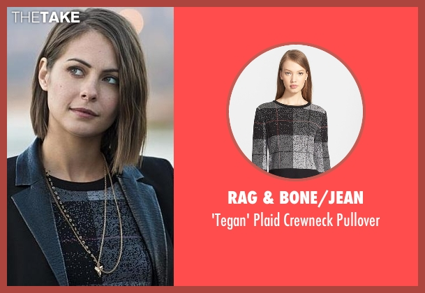 Rag & Bone/Jean black pullover from Arrow seen with Thea Queen / Speedy (Willa Holland)