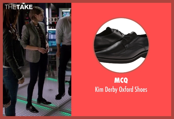 McQ black shoes from Arrow seen with Thea Queen / Speedy (Willa Holland)