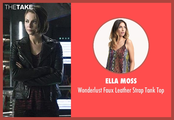 Ella Moss black top from Arrow seen with Thea Queen / Speedy (Willa Holland)