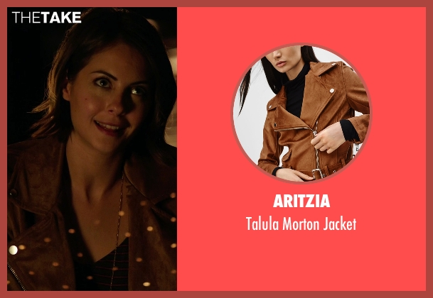 Aritzia brown jacket from Arrow seen with Thea Queen / Speedy (Willa Holland)