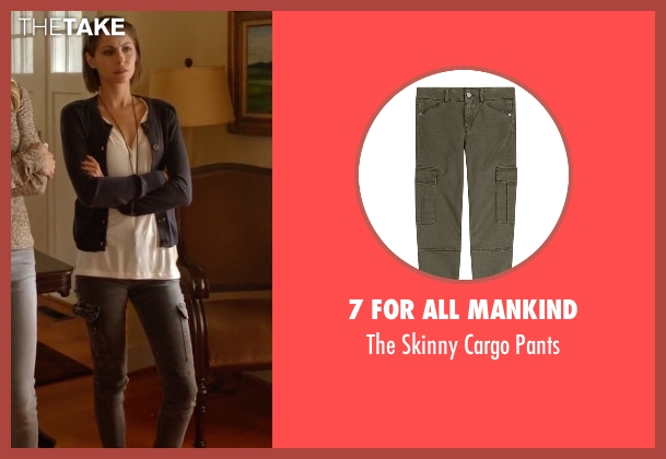 7 For All Mankind gray pants from Arrow seen with Thea Queen / Speedy (Willa Holland)