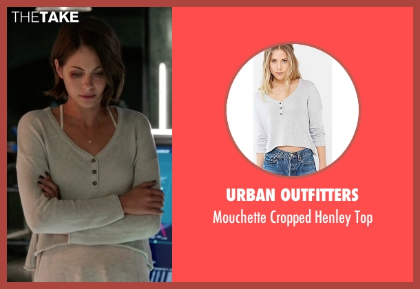 Urban Outfitters gray top from Arrow seen with Thea Queen / Speedy (Willa Holland)