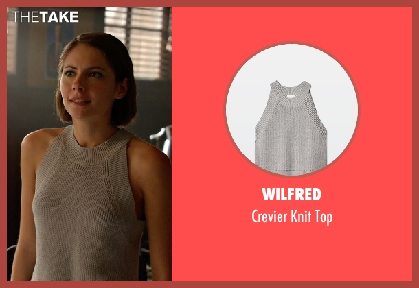 Wilfred gray top from Arrow seen with Thea Queen / Speedy (Willa Holland)