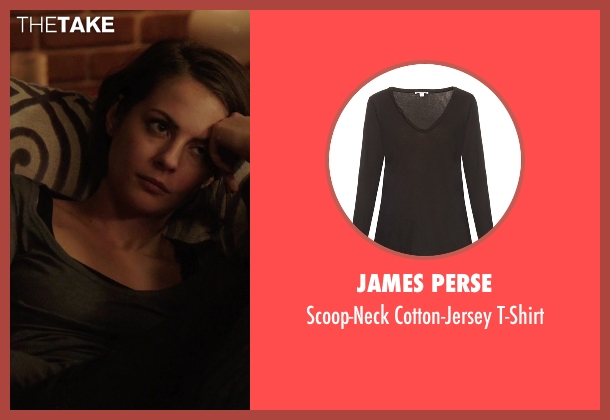 James Perse  gray t-shirt from Arrow seen with Thea Queen / Speedy (Willa Holland)