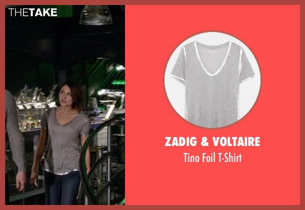 Zadig & Voltaire gray t-shirt from Arrow seen with Thea Queen / Speedy (Willa Holland)