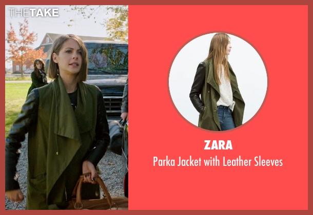 Zara green sleeves from Arrow seen with Thea Queen / Speedy (Willa Holland)