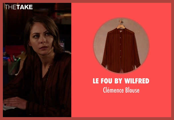 Le Fou By Wilfred red blouse from Arrow seen with Thea Queen / Speedy (Willa Holland)