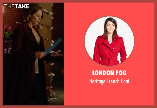 London Fog red coat from Arrow seen with Thea Queen / Speedy (Willa Holland)