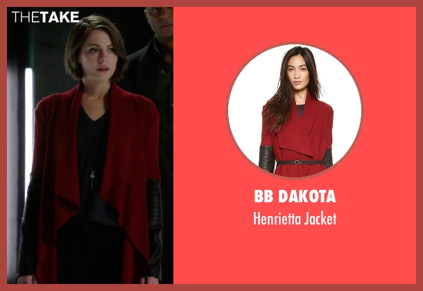 BB Dakota red jacket from Arrow seen with Thea Queen / Speedy (Willa Holland)