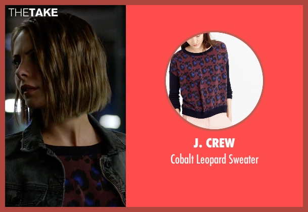 J. Crew red sweater from Arrow seen with Thea Queen / Speedy (Willa Holland)