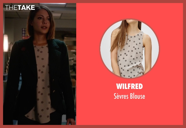 Wilfred white blouse from Arrow seen with Thea Queen / Speedy (Willa Holland)
