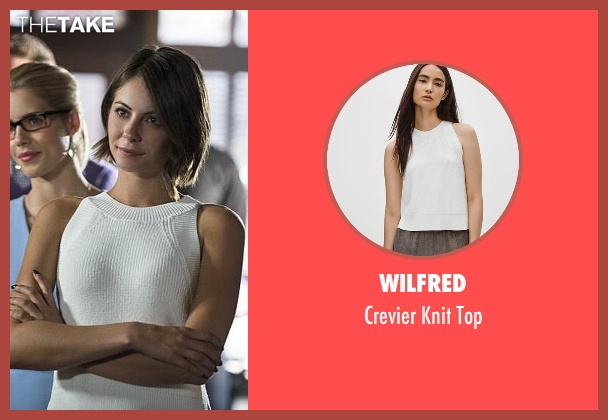 Wilfred white top from Arrow seen with Thea Queen / Speedy (Willa Holland)