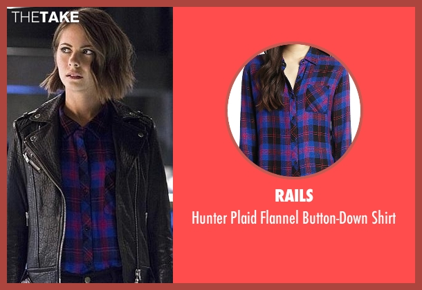 Rails blue shirt from The Flash seen with Thea Queen / Speedy (Willa Holland)