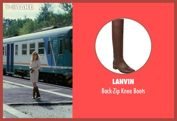 Lanvin brown boots from The American seen with Thekla Reuten (Mathilde)