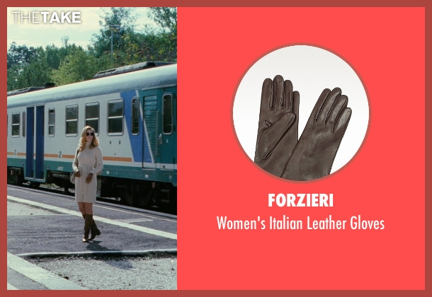 Forzieri brown gloves from The American seen with Thekla Reuten (Mathilde)