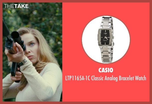 Casio silver watch from The American seen with Thekla Reuten (Mathilde)