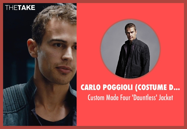 Carlo Poggioli (Costume Designer) black jacket from Divergent seen with Theo James (Four)