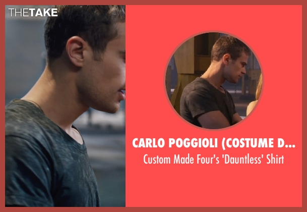 Carlo Poggioli (Costume Designer) black shirt from Divergent seen with Theo James (Four)