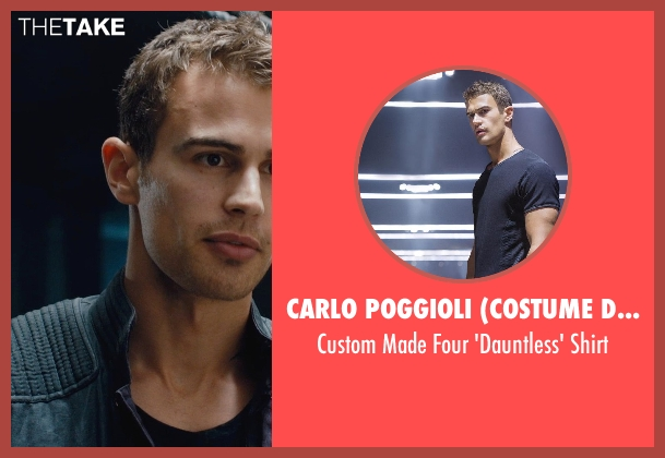 Carlo Poggioli (Costume Designer) shirt from Divergent seen with Theo James (Four)