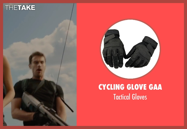 Cycling Glove Gaa black gloves from The Divergent Series: Allegiant seen with Theo James (Four)