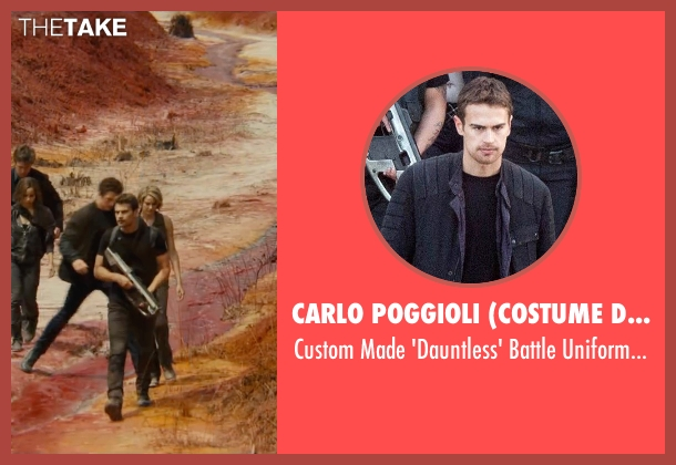 Carlo Poggioli (Costume Designer) black pants from The Divergent Series: Allegiant seen with Theo James (Four)
