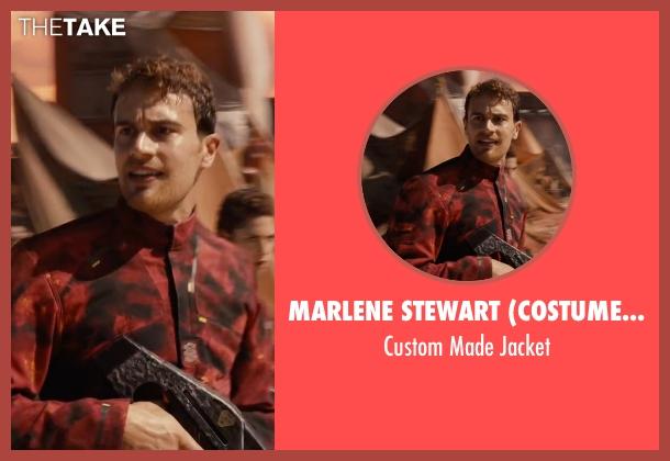 Marlene Stewart (Costume Designer) red jacket from The Divergent Series: Allegiant seen with Theo James (Four)