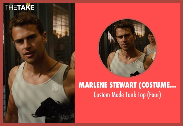 Marlene Stewart (Costume Designer) white top from The Divergent Series: Allegiant seen with Theo James (Four)