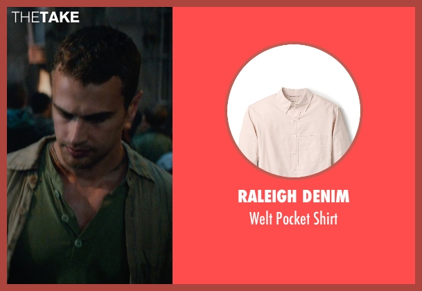 Raleigh Denim beige shirt from The Divergent Series: Insurgent seen with Theo James (Four)