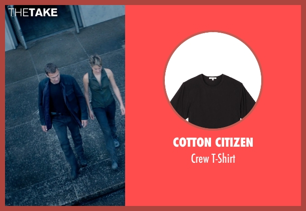 Cotton Citizen black t-shirt from The Divergent Series: Insurgent seen with Theo James (Four)