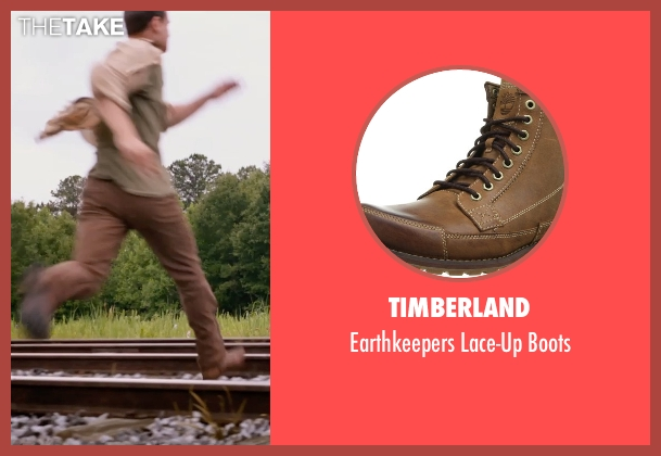 Timberland brown boots from The Divergent Series: Insurgent seen with Theo James (Four)
