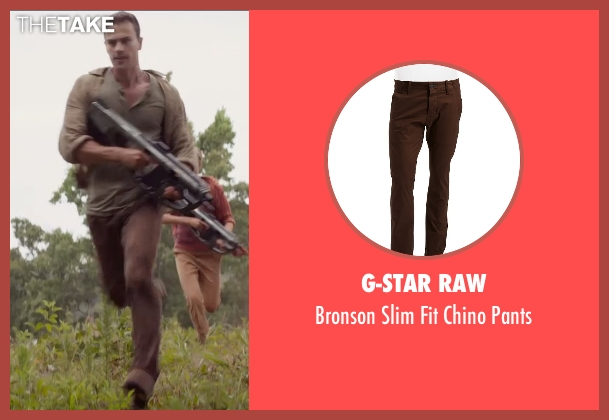 G-Star Raw brown pants from The Divergent Series: Insurgent seen with Theo James (Four)
