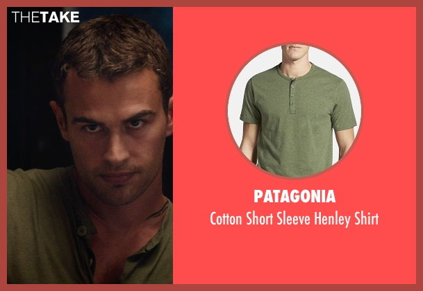 Patagonia green shirt from The Divergent Series: Insurgent seen with Theo James (Four)